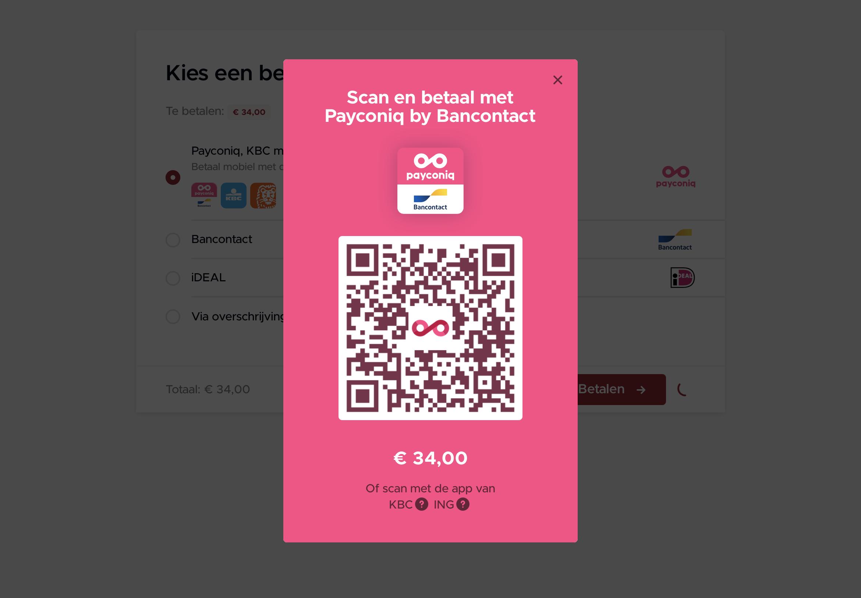 Betalen met Payconiq